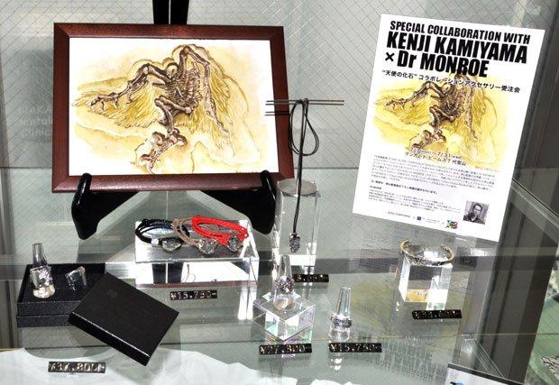 <strong>神山健治</strong>さんデザインのシルバーアクセサリーの展示・受注販売も