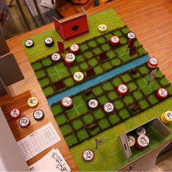 画像は「ゲームマーケット2013秋」で販売された「合戦将棋」