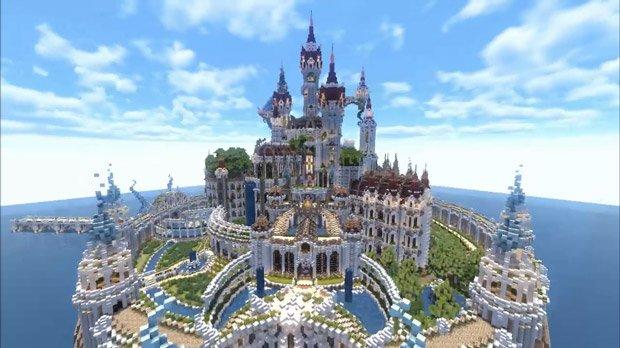 マインクラフト建築 魔法の城