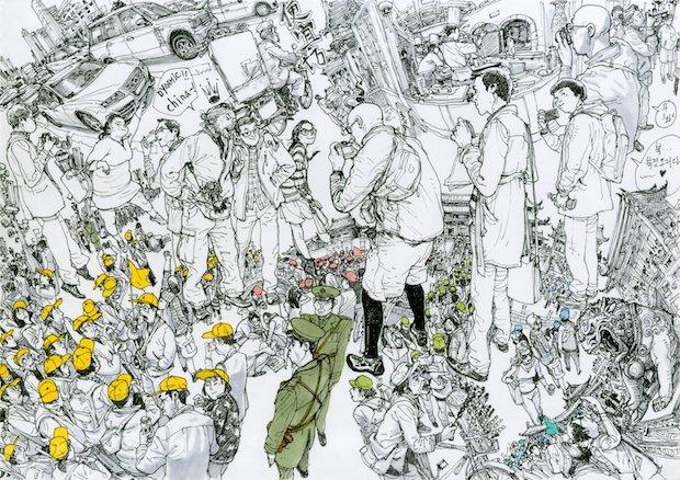 その圧倒的画力に刮目せよ!「世界一上手い漫画家」キムジョンギ個展
