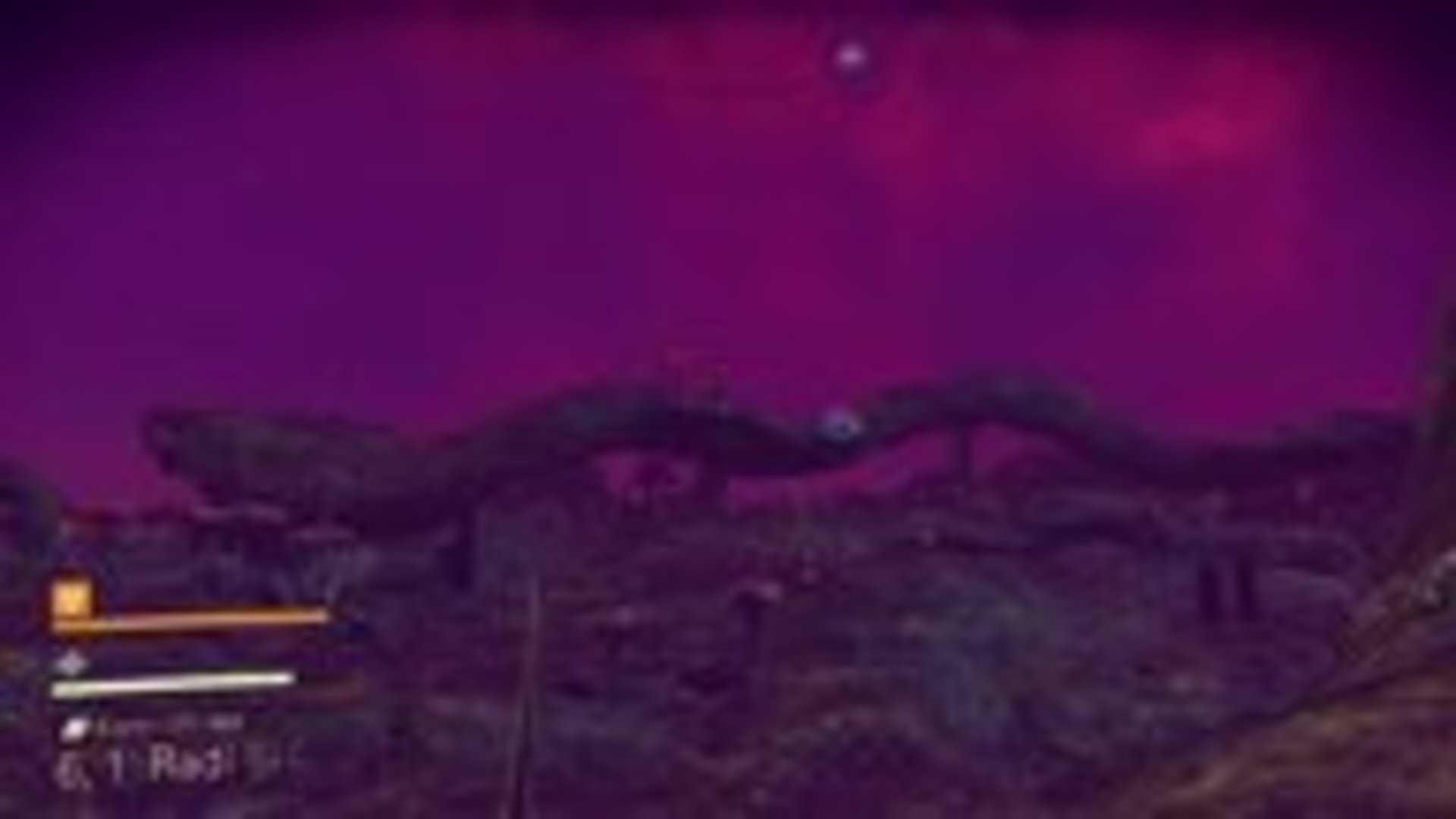 「Konnichiwa星」とりあえず初めの星なので記念に名前をつけた。放射能ガンガンの荒廃した星。/『No Man's Sky』スクリーンショット