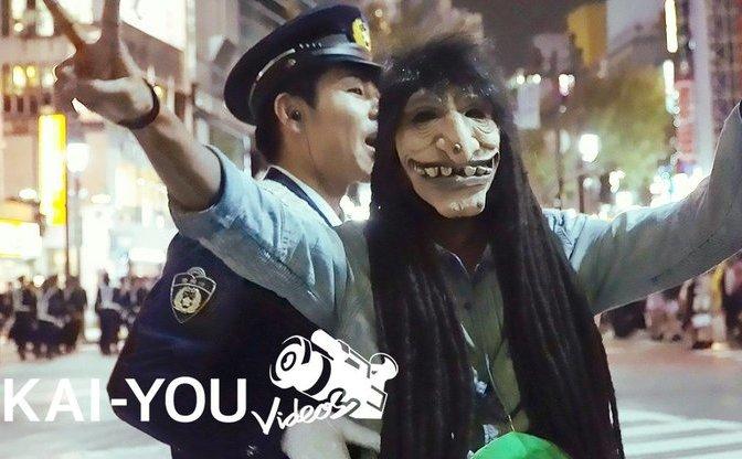 【動画】渋谷ハロウィンのカオス パリピゾンビ VS 警官100人