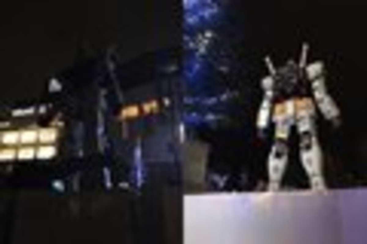 3月11日撮影のガンダム立像/筆者撮影