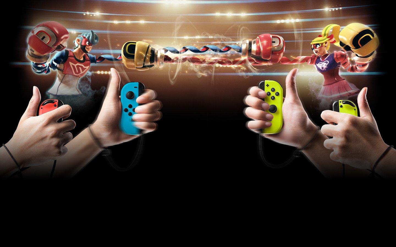 『ARMS』は、パンチや多彩なアクションを繰り出すことができる格闘ゲーム