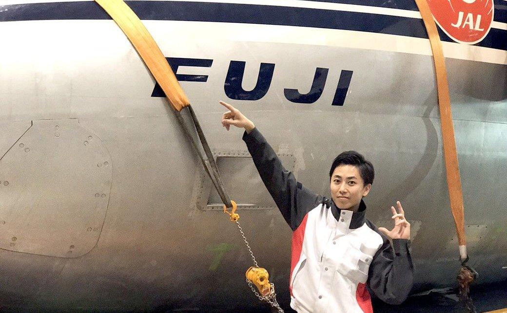 【超会議】JAL岡本さんと1000人で踊ってみた! 空の貴婦人「FUJI号」も雅