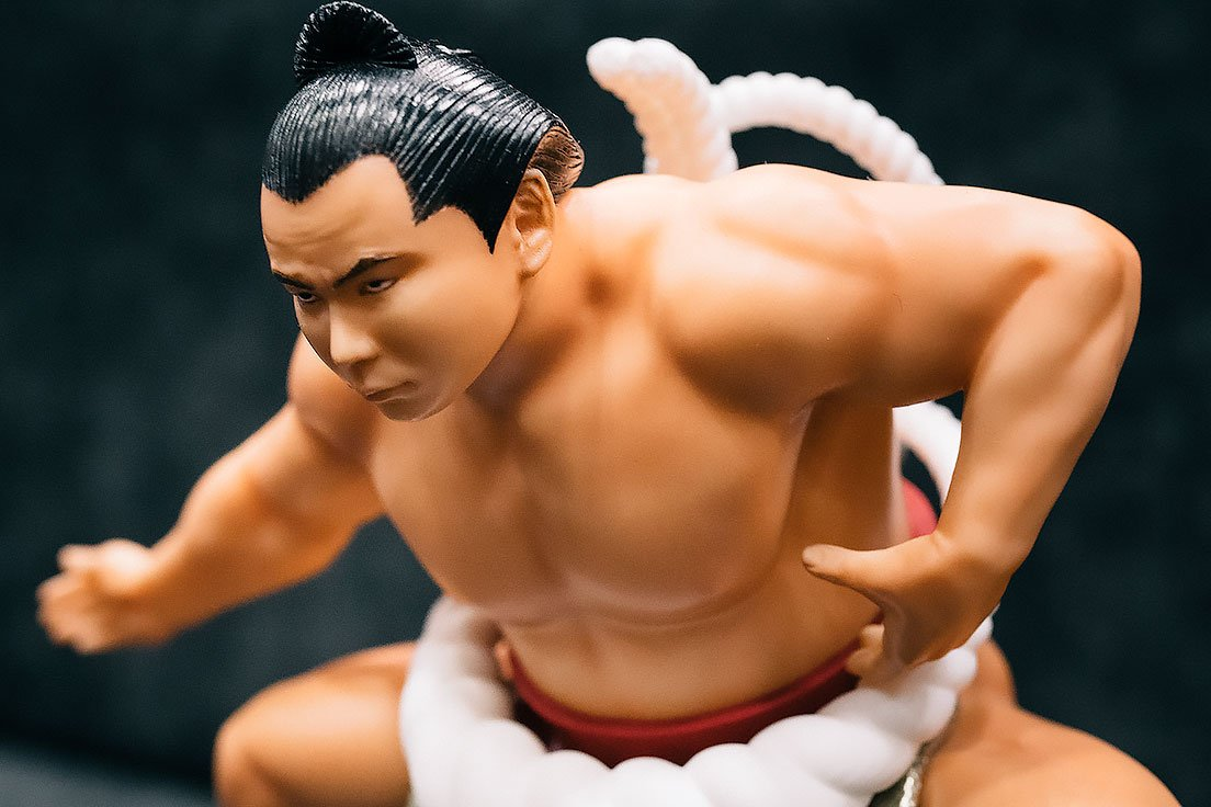 第五十八代横綱『千代の富士貢』未塗装カラーレジンキットの塗装済み完成品