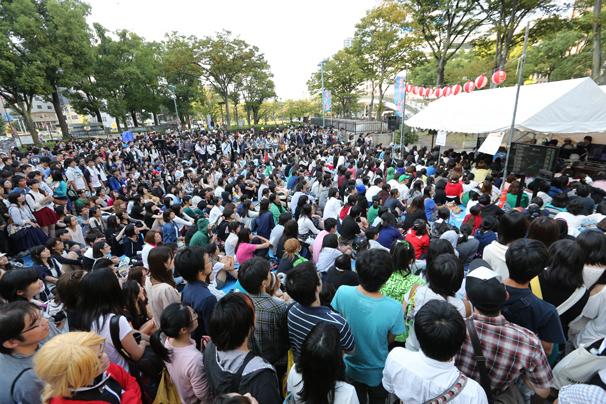 ニコニコ町会議 in 愛知県 名古屋市 栄でのゲーム実況ブースの様子