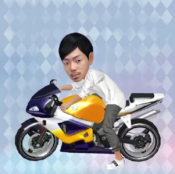 バイクにのる動画