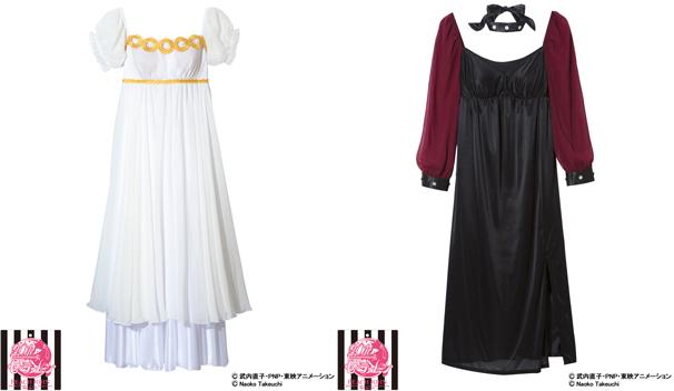 「セーラームーンなりきり制服ワンピース」/左:プリンセスセレニティ 右:ブラックレディ