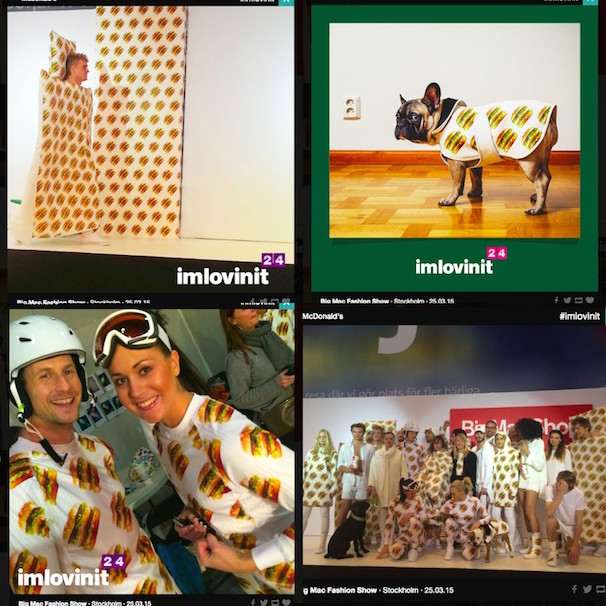「Big Mac Fashion Show」/imlovinit | 24 gifts of joy, 24 cities, 24 hours - McDonald'sより