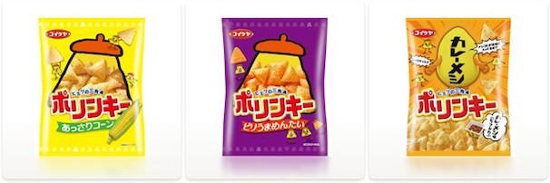 「ポリンキー」シリーズ/株式会社湖池屋ウェブサイトより