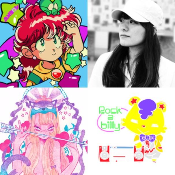 画像は左上から時計回りに陽子さん、黒川ナイスさん、REO*spikeeさん、eimiさん