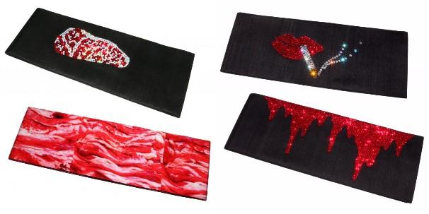 左:生肉の帯(各53,049円〜/税抜)、右:スワロフスキーの帯(各40,000円〜/税抜