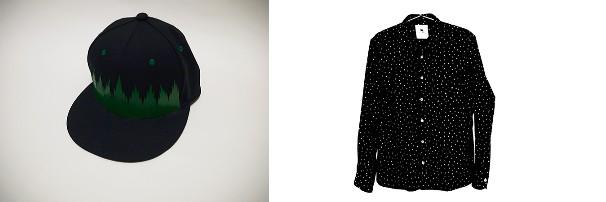 左:TANUKIバラン帽(7,800円/税込)、右:こめつぶシャツ(22,350円/税込)/画像はTANUKI公式オンラインショップより