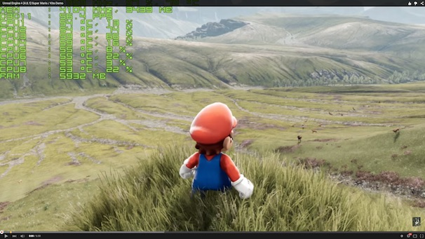 「Unreal Engine 4 [4.8.1] Super Mario / Kite Demo」スクリーンショット