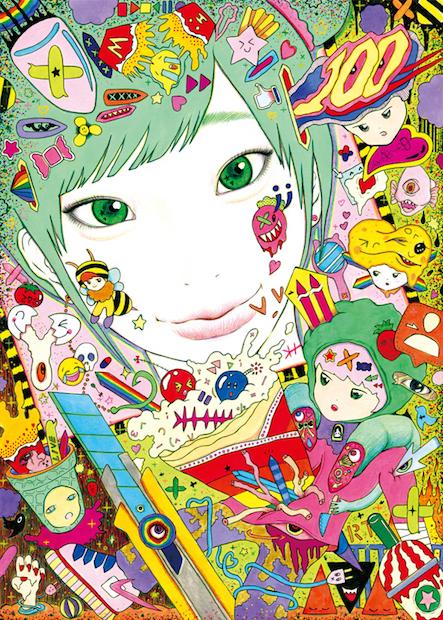 「女の子」テーマの作家サイトウケイスケ個展 自撮りをデコレーション