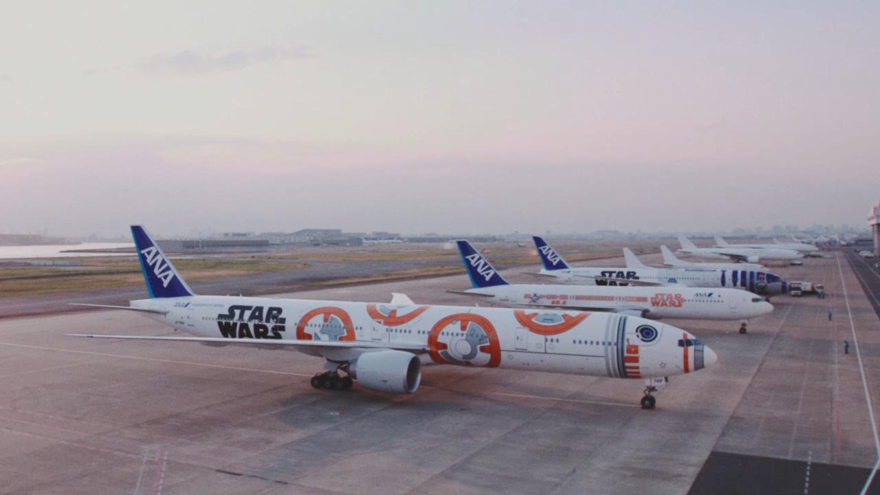 スターウォーズの名曲をジェット機で演奏 ANAがコラボ動画公開