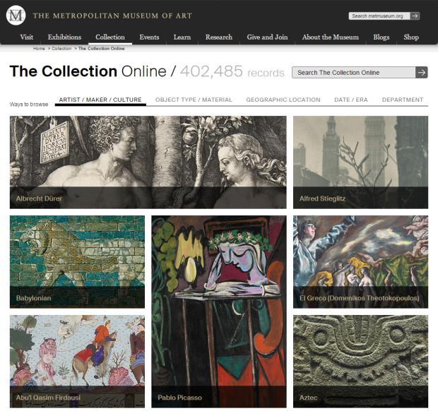 メトロポリタン美術館が40万作品をWeb公開! ダウンロード可能