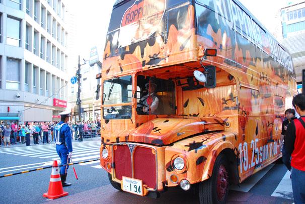 ハロウィン仕様のパーティー感のあるバス