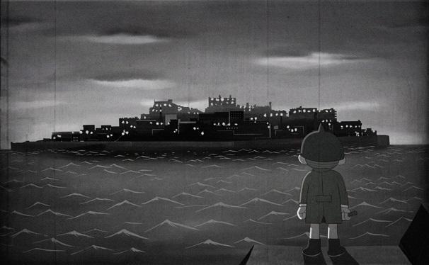 軍艦島と暗闇三太