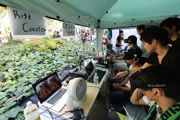 OculusRiftの魅力に取り憑かれた開発者集団・Ocufesは、ジェットコースターを仮想体験できる「Rift Coaster」を出展!