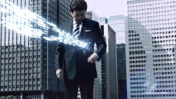 ウルトラマンのスペシウム光線もなんのその。(画像は動画のキャプチャ/(C)円谷プロ