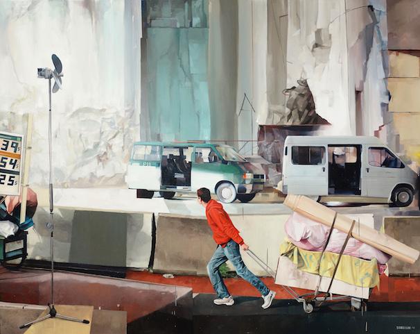A l'est, rien de nouveau : 2014 年 Oil on canvas 162x130cm