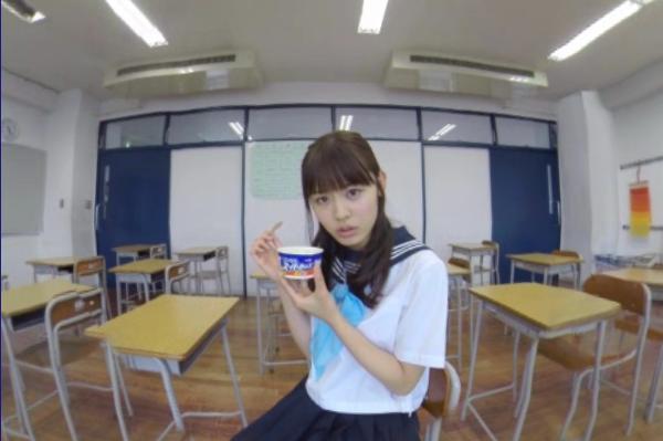 古畑星夏さんとのバーチャルデートのサンプル動画のキャプチャ/(C)Meiji Co.,Ltd.
