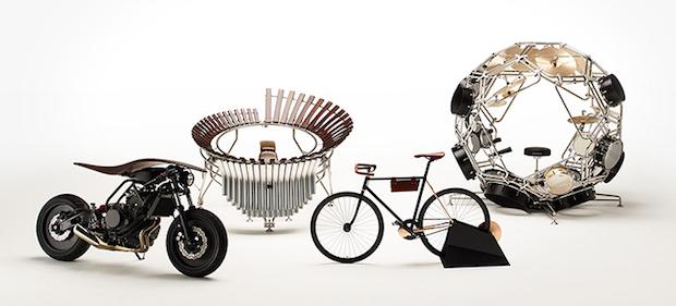球状のドラムセット! ヤマハの独創的なバイクや楽器が話題