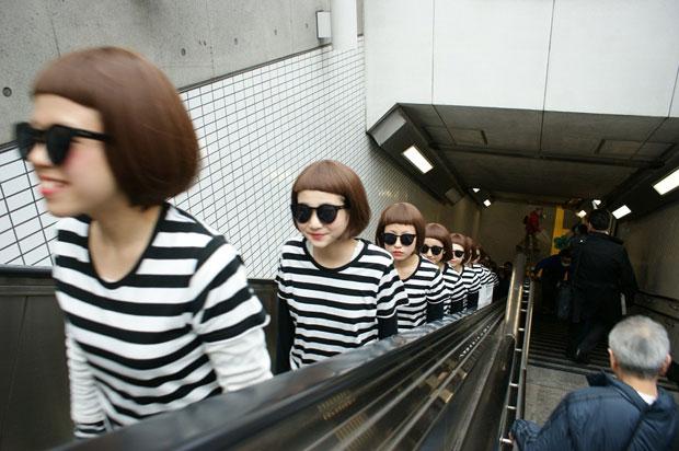 「オン眉」女子が大量発生!  三戸なつめのそっくりさんが渋谷原宿に