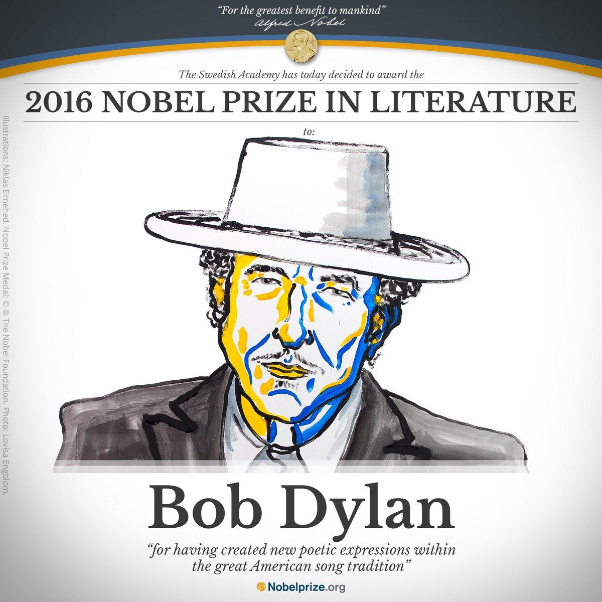 ノーベル文学賞はボブ・ディラン 本屋「ファッ!?」