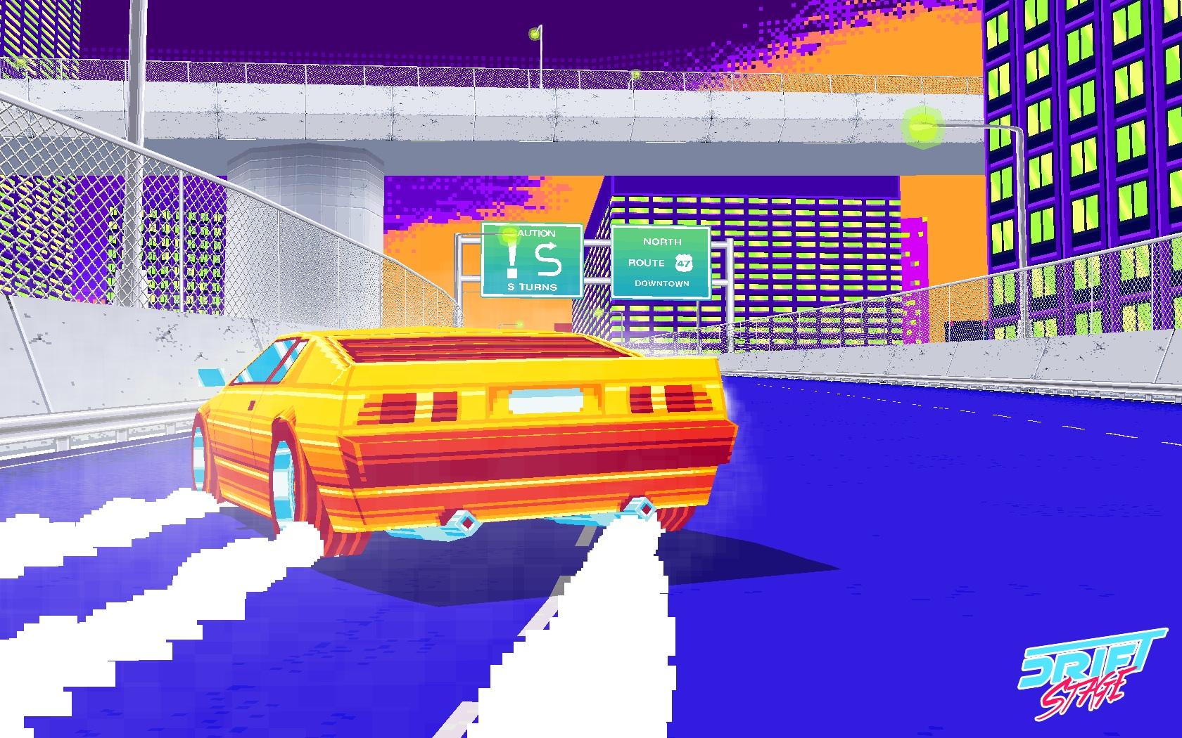 8bitだけど3Dなスーパーカーの疾走感! ゲーム「Drift Stage」が話題