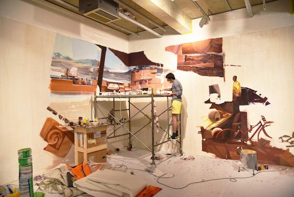 "制作風景 / ""BLAS"", 2015 Oil, acrylic painting, spray cans on canvas Courtesy Kaikai Kiki Co., Ltd"