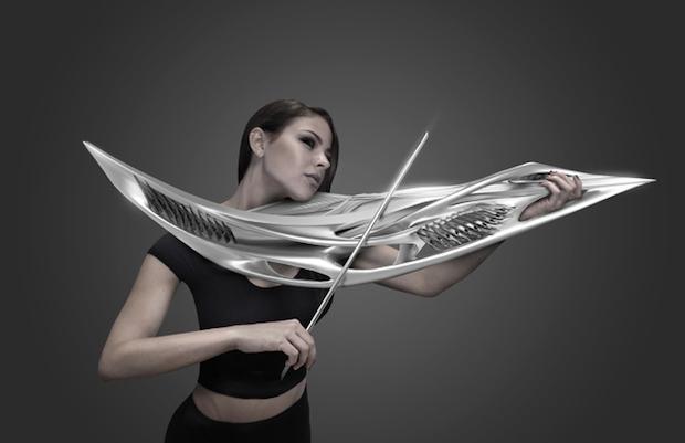 どんな音がする? 建築家デザインの武器っぽいバイオリンのライブ開催