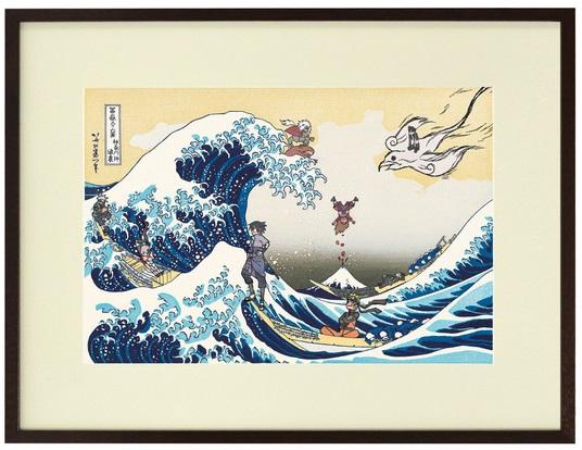 冨嶽三十六景にNARUTOが見参! 浮世絵と漫画文化の融合にポプりみを感じる