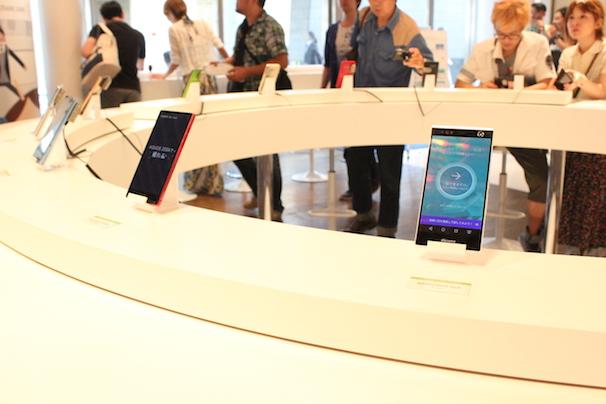 最新スマートフォン体験コーナー