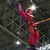 ムスカ大佐 VS 巨人! 超会議「進撃の巨人」ブースで立体機動装置を体験