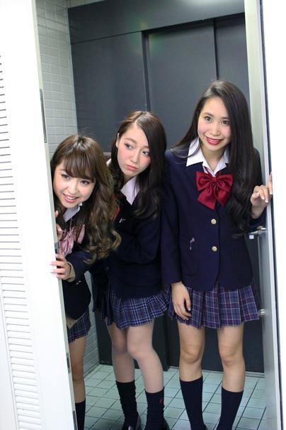 左からTomomi、Misaki、Yuri