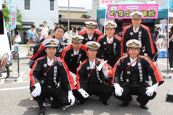 須坂市の消防団体のみなさん オープニングセレモニーにも登場し、地元民を驚かせました