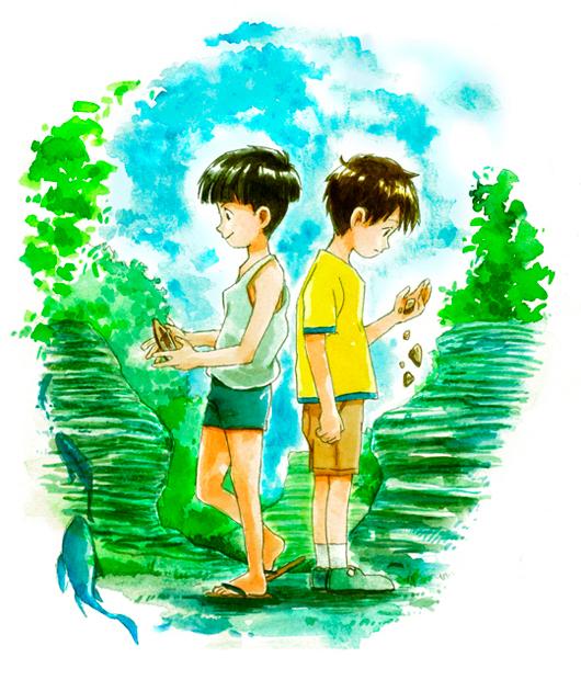 まぶしくて胸が苦しい…自主制作アニメ「木の葉化石の夏」公開