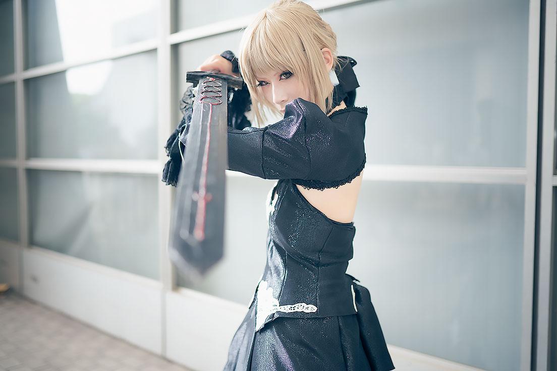 ノアさんの「Fate」セイバーオルタ コスプ2
