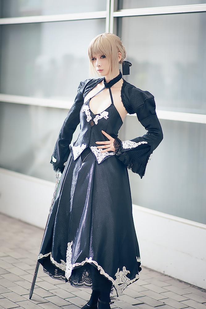 ノアさんの「Fate」セイバーオルタ コスプレ4