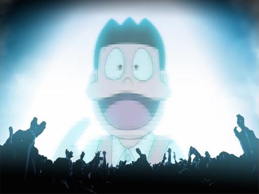「スネ夫がスタジアムで踊っているときに流れている曲」/動画のスクリーンショット