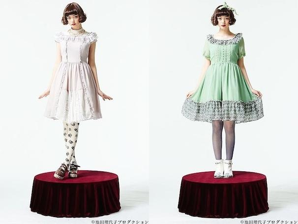 左:「マリー・アントワネットドレスワンピース〜わたしはいま……ベルサイユの女王!!〜」 │ 右:「マリー・アントワネットドレスワンピース〜まるで春のかおりそのもののようなかた!〜」
