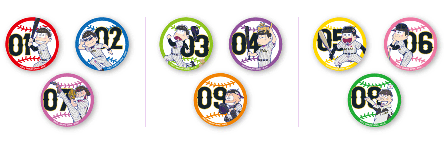 缶バッジセット  各セット¥600(税込み)
