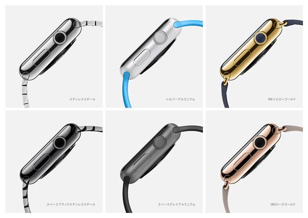 Apple Watchの各モデル一覧