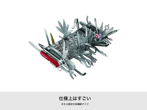 仕様上はすごい ギネス認定の多機能ナイフ