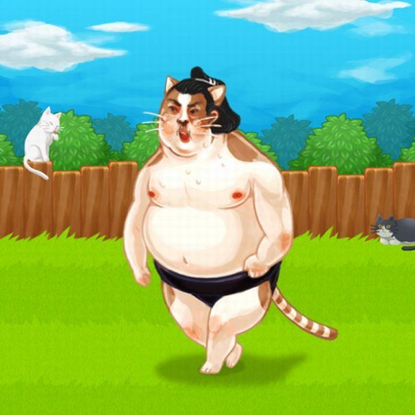 「ボスネコごっつあん」猫系力士。/(C)PAON DP Inc.