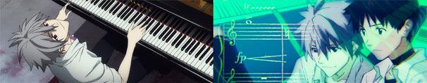 カヲルくんとシンジくんによるピアノ連弾のシーン