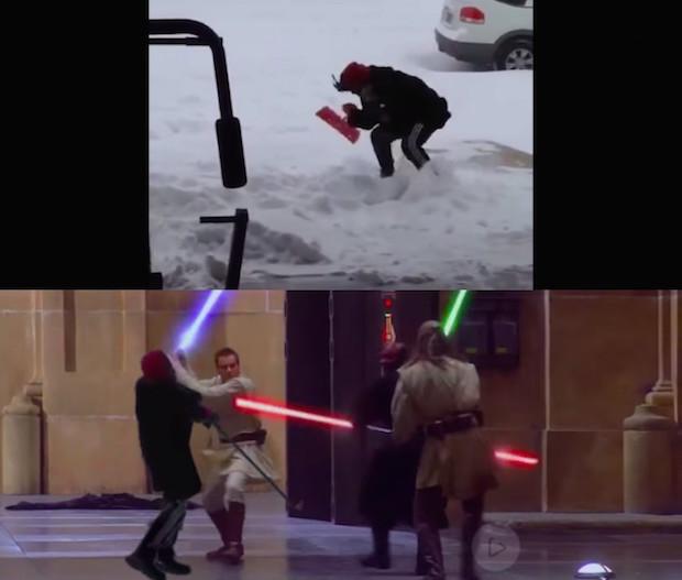 【腹筋崩壊】雪かきしてて9秒も滑り続けた男の動画でコラ祭り